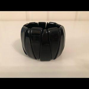 Black stretch cuff bracelet